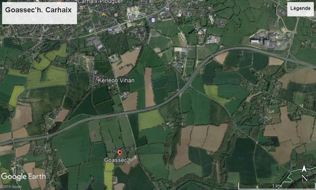 Un cairn important découvert près de Carhaix Goassech-google