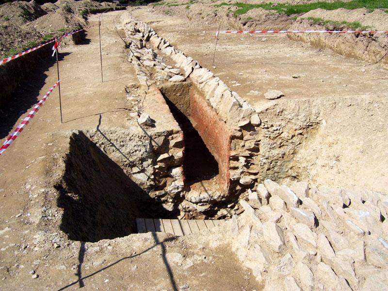 L'aqueduc romain de Carhaix Persivien-canal-enduit
