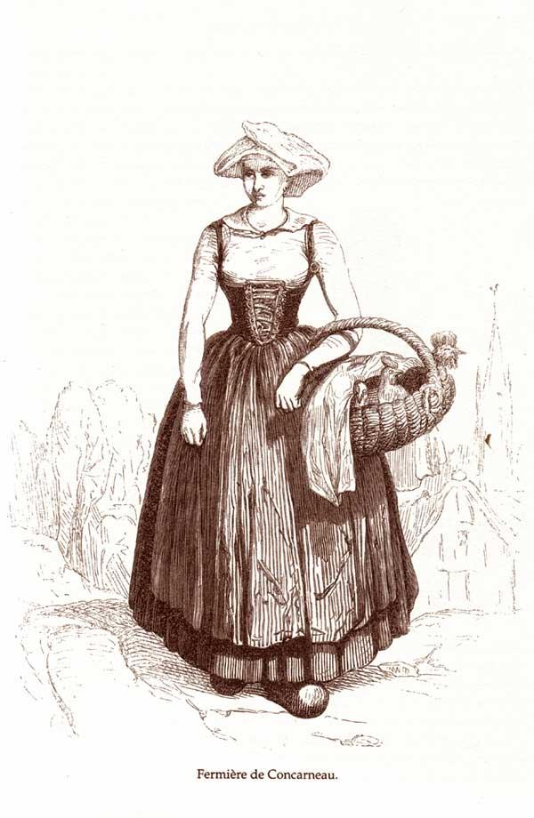 Fermière de Concarneau. 1842 Courcy-lb23