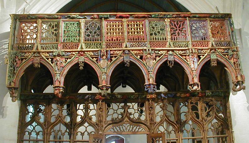 Chapelle Saint Fiacre, Le Faouët Fiacre-jube-dos
