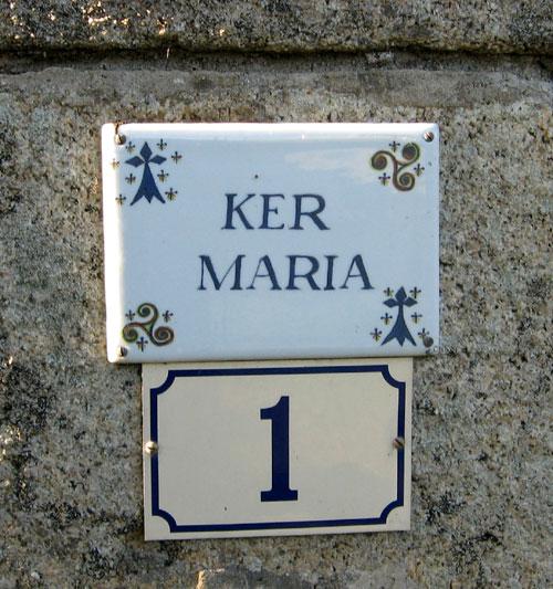 Les noms de maisons en langue bretonne Ker-maria-plougasnou