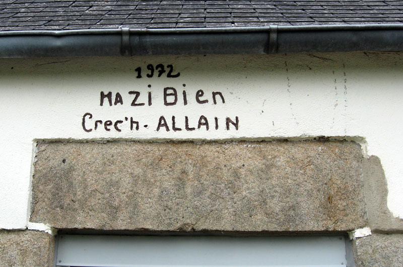 Les noms de maisons en langue bretonne Ma-zi-bien-tregrom