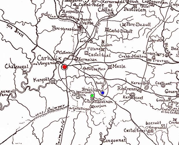 La forêt de Brocéliande Bressilien-castellaouenan