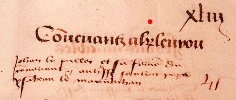 Les K barrés sur les documents et monuments Rentier157