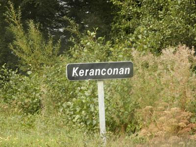 La langue bretonne et la signalisation routière Keranconan-92