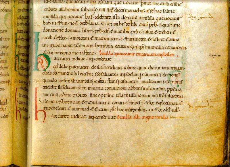 Le Cartulaire de Redon Cartulaire-extrait