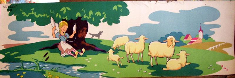Dañvad = Mouton Moutons-bergere-studia903
