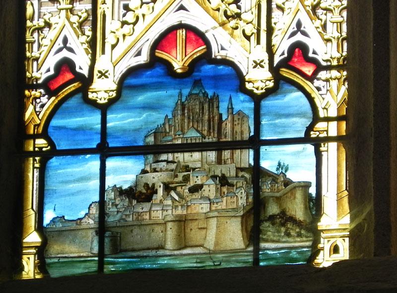 Le MONT SAINT MICHEL (au Péril de la Mer) Vitrail-josselin-092