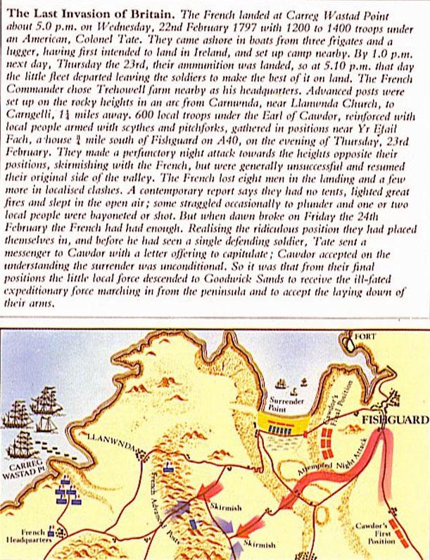 L'illusion 'celtique' française anti anlaise Fisguard-1797