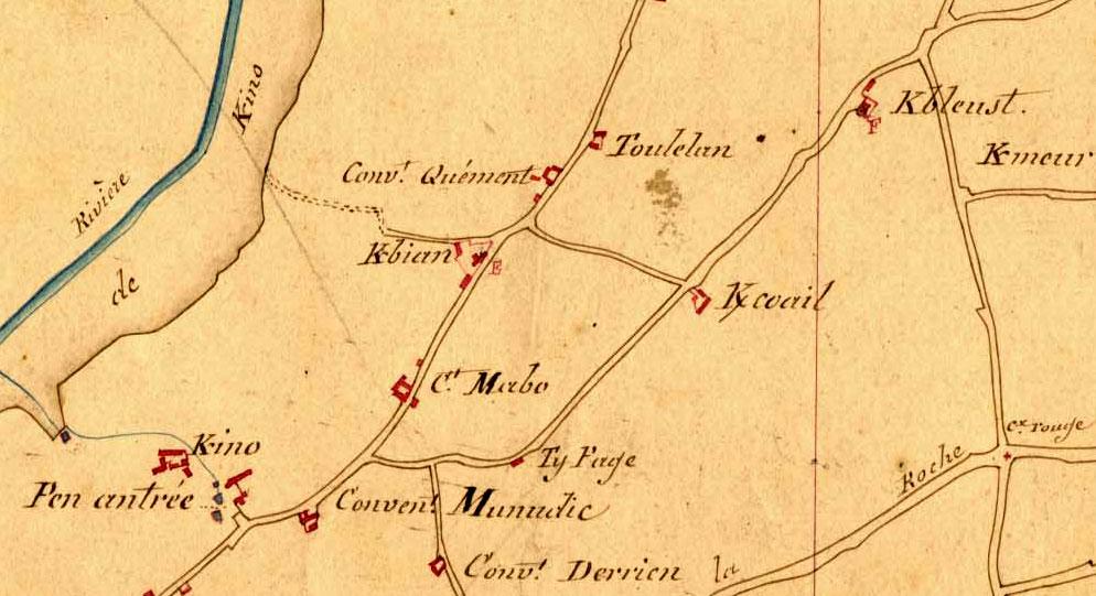 Les K barrés sur les documents et monuments Cadastre-breton-k-barre
