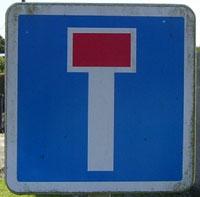 Termes et code de la route Panneau-impasse